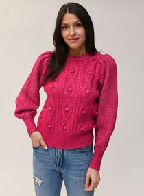 Bobble Puff Sleeve Sweater