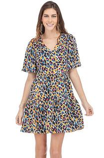 Shelby Flutter Sleeve Dress- Multi Leopard