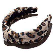 Corduroy Knotted Headband- Leopard Corduroy