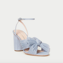 Cameillia Blue Pleated Bow Knot Heel (Ankle Strap)