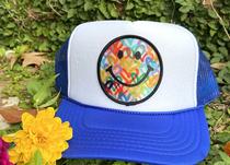 Royal Blue Smiley Trucker Hat