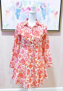 Mini Shirtdress- Autumn Chintz