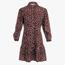 Henley Dress- Painted Spot Merlot