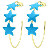 Game Day Silvina Star Hoops- Blue Resin