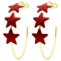 Game Day Silvina Star Hoops- Red Resin