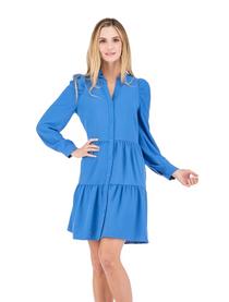Cindy Long Sleeve Dress- Winter Sky