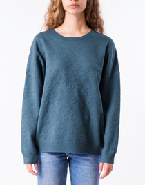 Clyde Leo Sweater- Stormy Blue