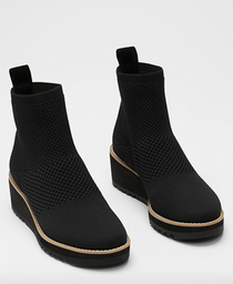 London Recycled Stretch Bootie- Black