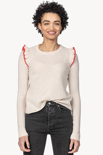 Ruffle Pullover Sweater- Cameo