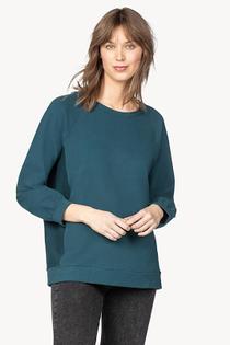 Side Panel Boyfriend Sweatshirt- Stream