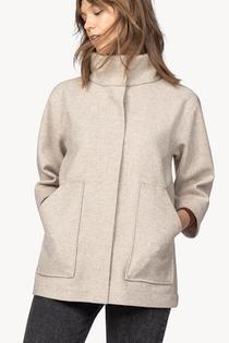 Zip Front Jacket- Husk