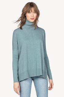 Oversized Turtleneck Sweater- Cascade