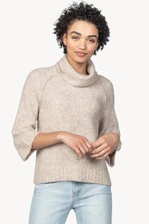 Easy Boucle Turtleneck Sweater- Oatmeal