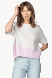 Oversized Rollneck Sweater- Platinum/Taffy