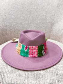 Amethyst Patchwork Kantha Hat- Multiple