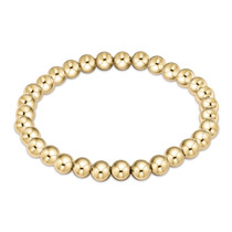 Classic Gold 6mm Bead Bracelet