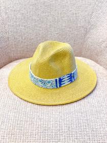 Kilim Straw Hat- Multiple Colors