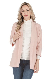 3/4 Sleeve Jacket- Dusty Pink