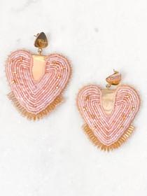 Mosaic Heart Earring- Pink