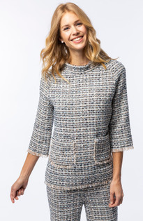 Coco Boucle Top- Blue Multi