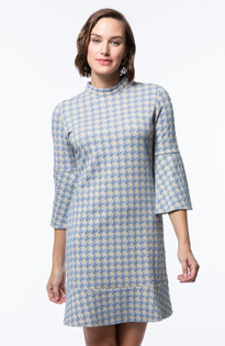 Mindy Jacquard Dress- Giant Houndstooth