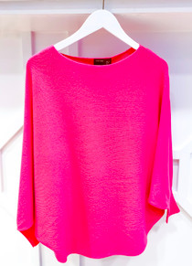 RYU Sweater- Hot Pink