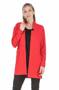 Open Coat- Red
