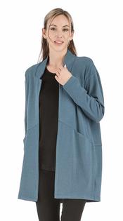 Open Coat- Bluestone
