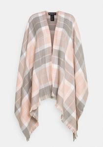 Staffin Tartan Serape- Pink/Grey