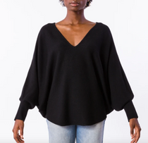 RYU V-Neck Sweater- Black