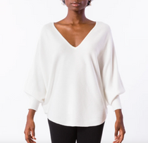 RYU V-Neck Sweater- Ivory