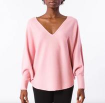 RYU V-Neck Sweater- Pink