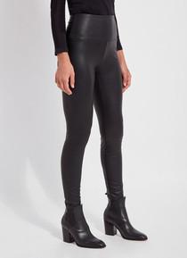 Textured Leather Legging