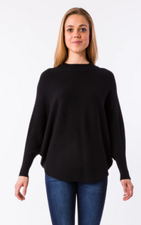 RYU Mock Neck Sweater- Black