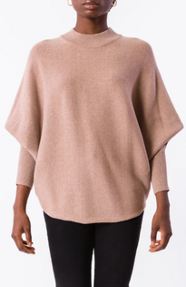 RYU Mock Neck Sweater- Light Taupe