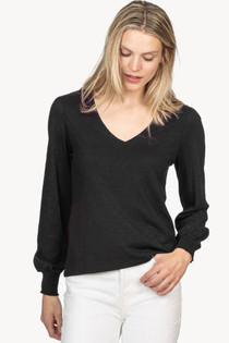 Long Sleeve V-Neck- Black