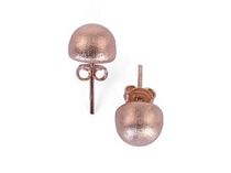 Lilou Studs- Brushed Rose Gold