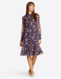 Carrie Dress- Painterly Floral