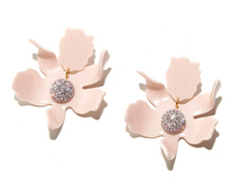 Crystal Lily Earring- Dusty Pink