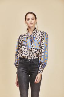 Finley Blouse- Rancho Leopard