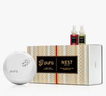 Pura Smart Diffuser Set- Holiday & Birchwood Pine