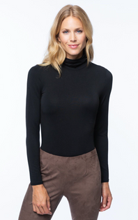 Jersey Turtleneck- Black
