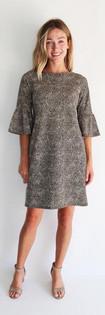 Shelby Dress- Texture Cheetah Camel