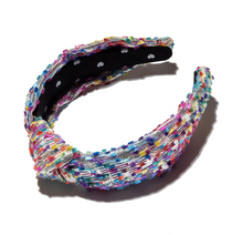 Shimmer Knotted Headband- Metallic Confetti