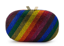 Pot of Gold Rainbow Oval Clutch