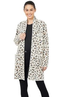 Kimmie Cardigan- Animal Print