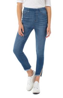 Chloe Crop Angled Slit Skinny Jean