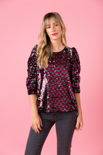 Lurie Top- Chromatic Sequin