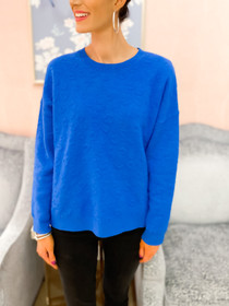 Clyde Leo Sweater- Persian Blue