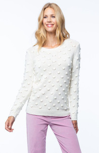 Popcorn Sweater- Pearl